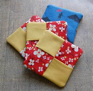 Quilters Table The Craftinomicon Tutorial Fabric Coasters
