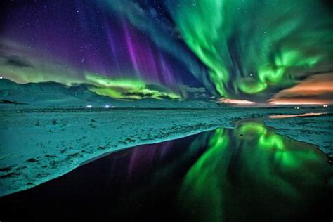 northern lights iceland time of year incredible images show northern lights illuminating
