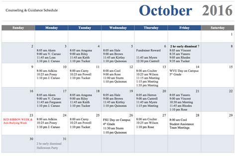 school counselor calendar calendar of events school counselor big elm