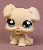 lps boxer puppy littlest pet shop 1706 or boxer puppy with blue white patch