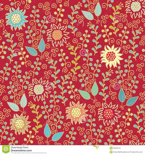 indian flower textile stock illustration image of card