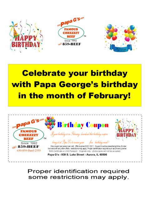 birthday coupon template birthday coupon template 3 free templates in pdf word