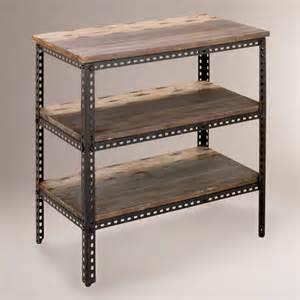 Uttermost Floor Lamp 3 Shelf Industrial Metal Shelf Traditional Display And