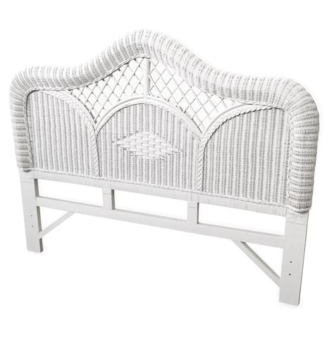 regency white wicker size headboard