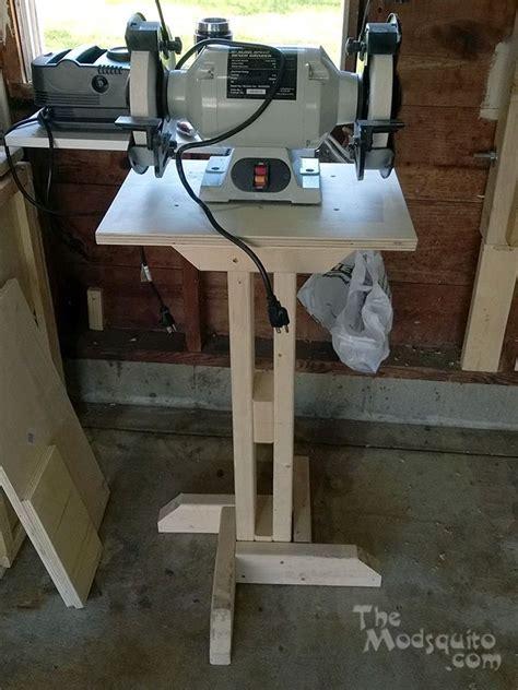 shop  grinder stand  plans