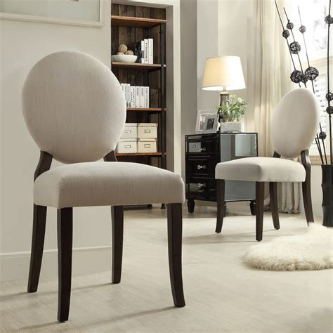 round back dining room chairs inspire q paulina grey fabric round back dining chair set