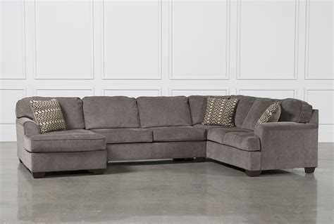 loric sectional loric smoke 3 piece sectional w laf chaise living spaces