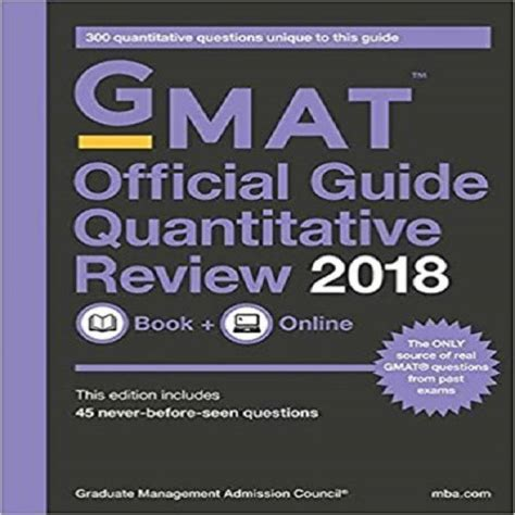 Official Mba Guide Uk by Gmat Official Guide 2018 Quantitative Review Book