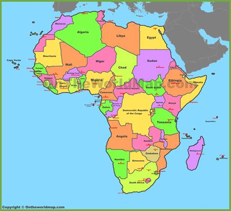 map  africa countries labeled  travel information
