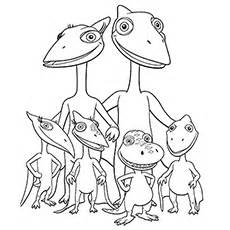 10 Cute Dinosaur Train Coloring Pages Your Toddler Will Love To Color sketch template