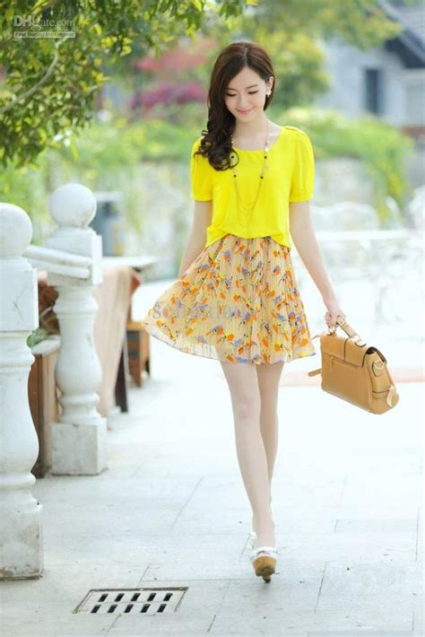 Korean Style Dress Yellow by Kpop Korean Fashion Style Clothing Dresses More
