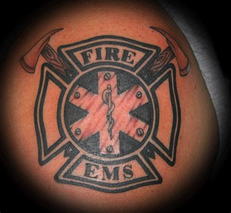 fire cross tattoos maltese cross ems maltese cross