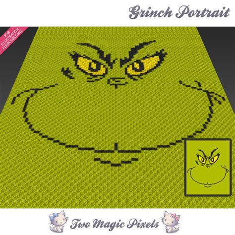 js blanket pattern grinch portrait crochet blanket pattern twomagicpixels