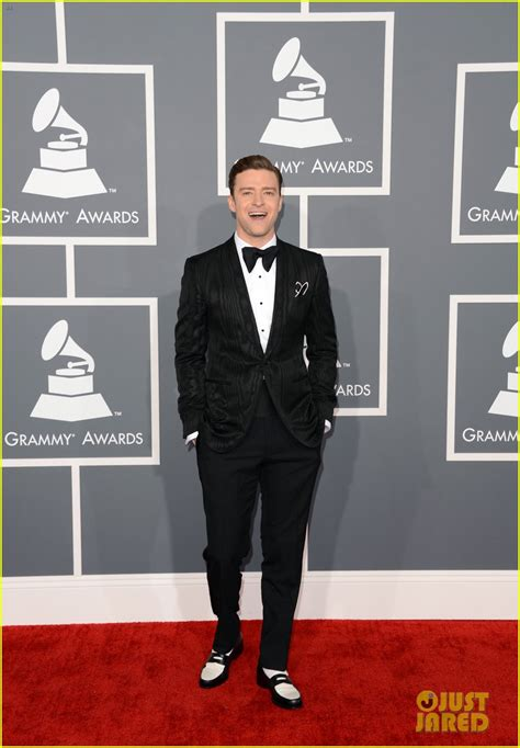 justin bieber on grammys 2013 full sized photo of justin timberlake grammys 2013 red