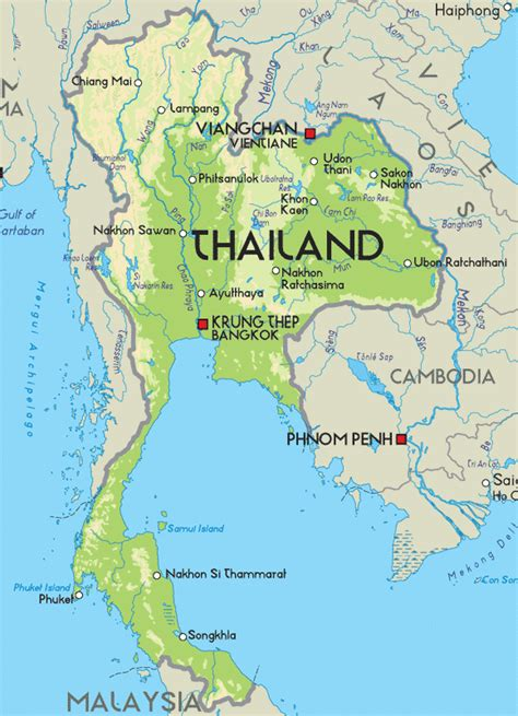 map of thailand country thailand human geography political borders
