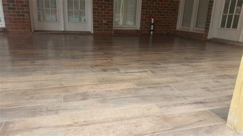 porch floor tile that look likes woood archadeck