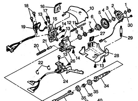 steering column exploded views  ford gm dodge chrysler jeep plymouth steering column