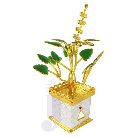 Tulsi Planter by Jpearls Golden Tulsi Silver Plant