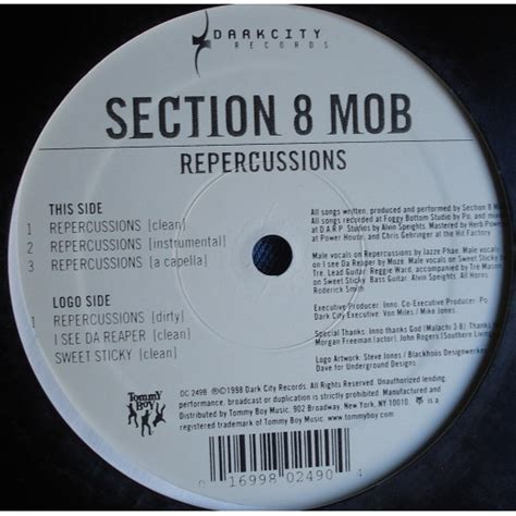 section 8 mob repercussions by section 8 mob 12inch with french