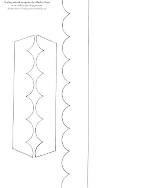 scalloped edge template scallop border template