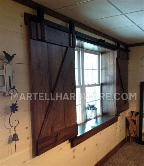 Barn Doors With Windows Ideas A Unique Setup For Sliding Shutters In A Renovated Basement Custom Built Shutters By The