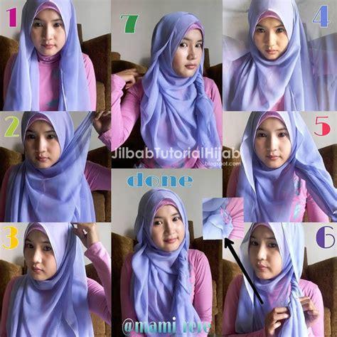 tutorial hijab segi empat untuk wajah lonjong 6 tutorial hijab segi empat untuk wajah bulat jilbab