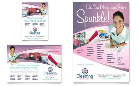 templates for cleaning flyers house cleaning maid services flyer ad template design