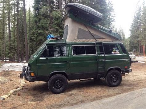 volkswagen vanagon lifted used rvs 1986 westfalia syncro weekender by owner 48000