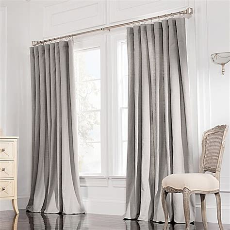 double wide curtain panels buy valeron estate cotton linen 84 inch double wide window
