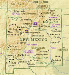 and new mexico map with cities new mexico