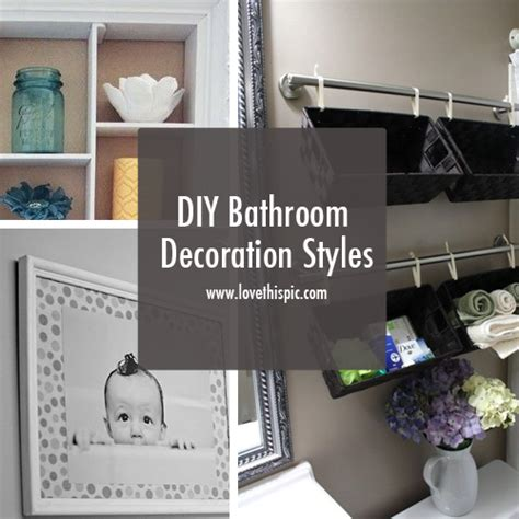 homemade bathroom decor diy bathroom decoration styles