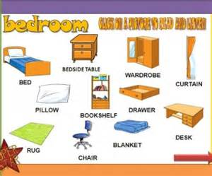 Bedroom Furniture Vocabulary by The Bedroom Powerpoint Presentation