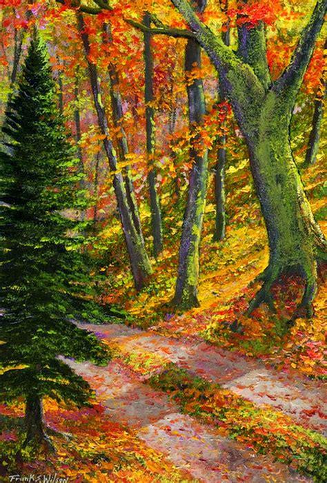paisaje de otoo serie im 225 genes arte pinturas paisajes de oto 241 o pinturas al 211 leo frank wilson