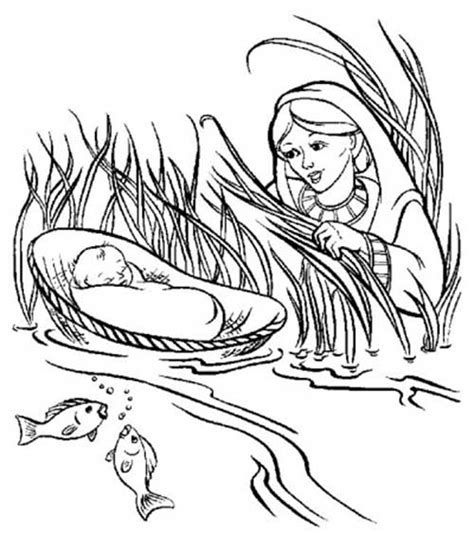 coloring pages for baby moses in the river 45 desenhos b 237 blicos para colorir pintar em casa