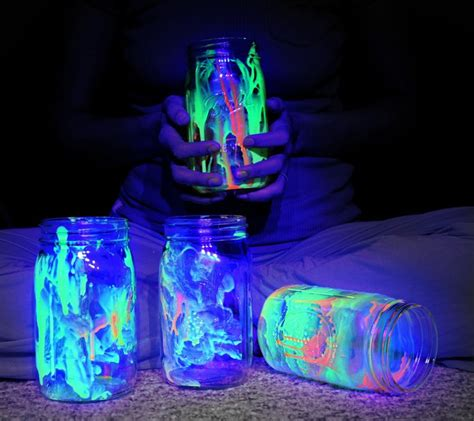glow in the paint jars glow in the jars things to do