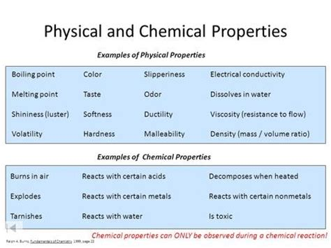 is color a physical or chemical property matter and change ppt