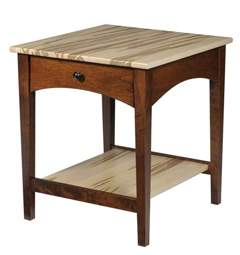 solid wood modern shaker end table from dutchcrafters