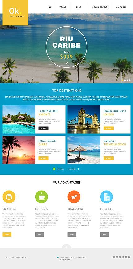 Pleasing Travel Website Templates Entheos Travel Website Template