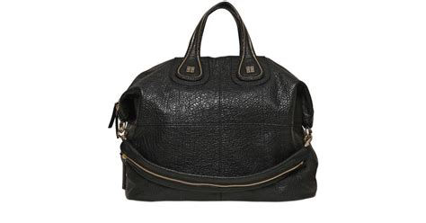 Givenchy Nightingale Leather Bags Likeb givenchy large nightingale textured leather bag in black lyst