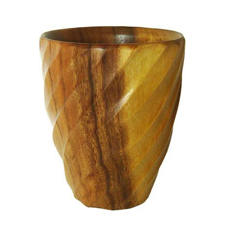 Wood Vase by Acacia Wood Spiral Utensil Vase