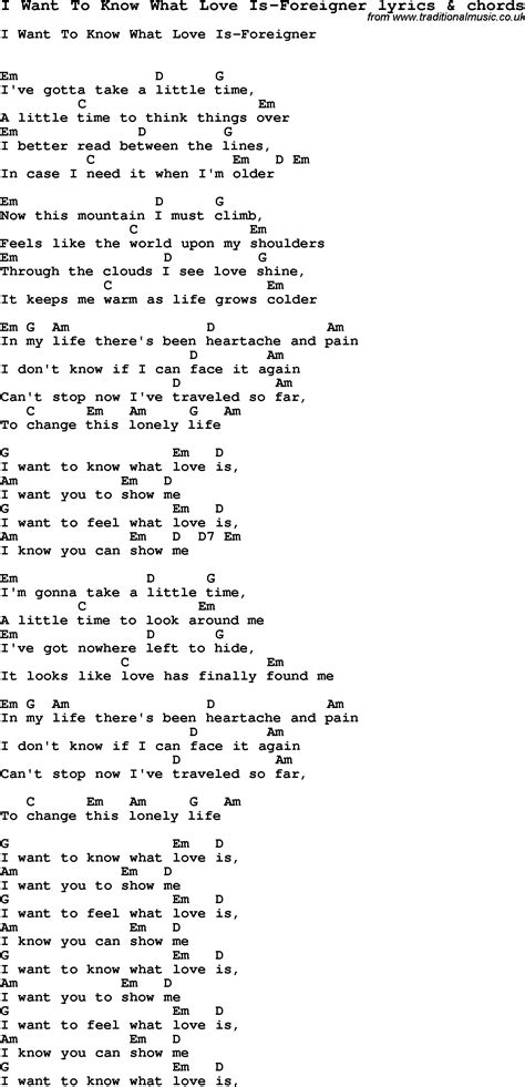 printable lyrics to i need you to survive love song lyrics for i want to know what love is foreigner
