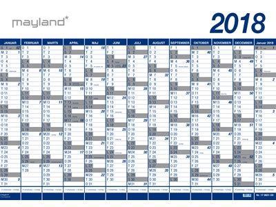 Kalender 2018 Med Uger Mayland 2018 Hertels Dk Kontorartikler Kontorm 248 Bler