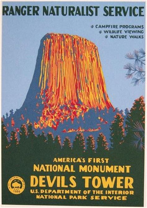 devils tower nha  devils tower wpa poster