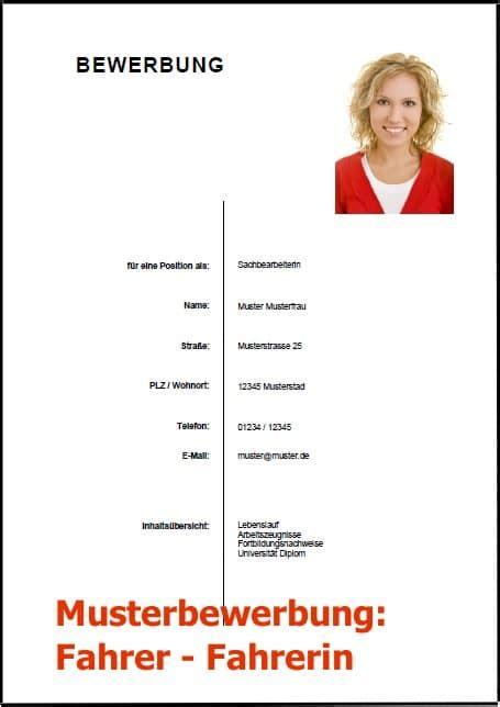 Bewerbungsschreiben Lkw Fahrer Bewerbungsschreiben Fahrer Fahrerin Lkw Fahrer Vorlage