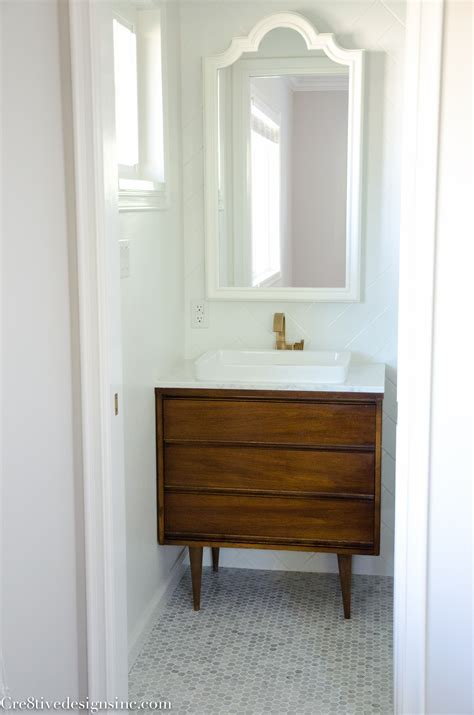 Mid Century Modern Bathroom Vanity Ideas by Designing A Tiny Bathroom Cre8tive Designs Inc