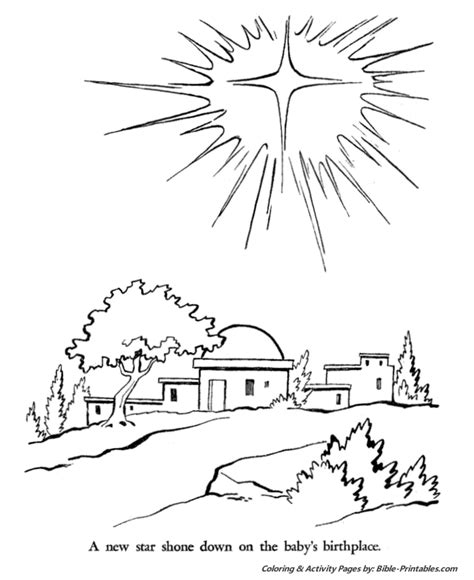 Bethlehem Coloring Page of bethlehem flower coloring sheets coloring pages