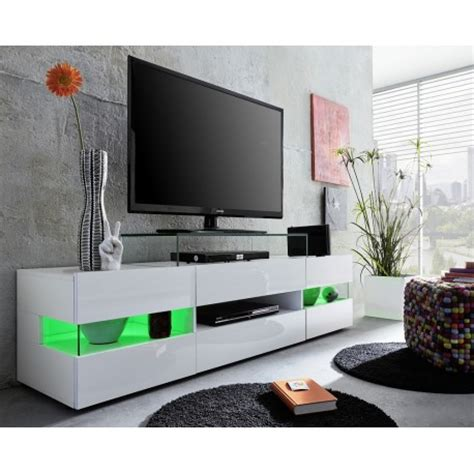 white tv stand with led lights sonic tv stand with optional led lights tv stands