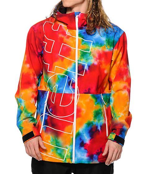 neff daily tie dye 10k softshell snowboard jacket at