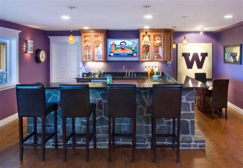 home sports bar basement seattle by
