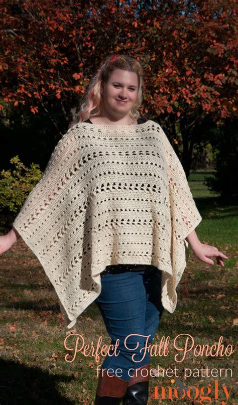 crochet shawls crochet poncho for spring free pattern perfect fall poncho free crochet pattern on mooglyblog